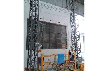 10 m accionado cuerda de aluminio plataforma suspendida zlp1000 monofásico 2 * 2.2kw