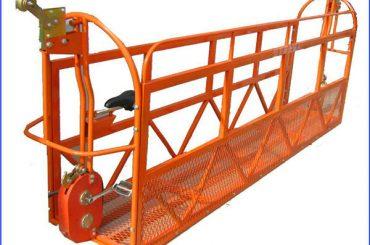 6m 1.5kw 630kg andamio pintado plataformas de trabajo de aluminio con alambre de acero 8.3mm