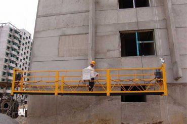 7,5 m. Plataformas suspendidas de 800 kg personalizadas para la limpieza de edificios, tipo pasador.
