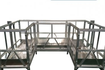 Plataforma de trabajo suspendida de alta resistencia con cinta u
