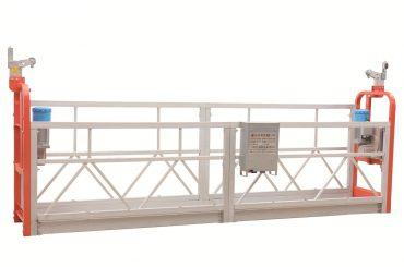 Plataforma de trabajo suspendida de limpieza de fachadas de acero pintado zlp630