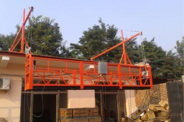 plataforma de suspensión de cuerda