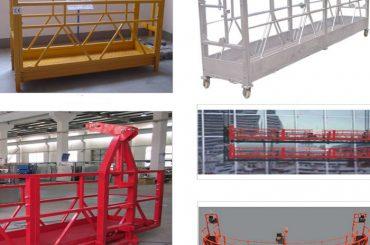Equipos de acceso suspendido de aleación de aluminio pintado / galvanizado en caliente de 800 kg zlp800