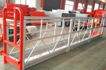 2 Secciones 500kg Plataforma de trabajo suspendida con 3 tipos de contrapeso