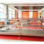 Plataforma suspendida de aluminio zlp630 (ce iso gost) / equipo de limpieza de ventanas de gran altura / góndola temporal / cuna / plataforma de giro caliente