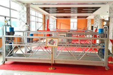 Plataforma suspendida de aluminio ZLP630 (CE ISO GOST) / equipo de limpieza de ventanas de gran altura / góndola temporal / cuna / plataforma giratoria en caliente