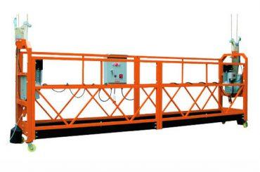 2.5M x 3 Secciones 1000 kg Plataforma de acceso suspendido Velocidad de elevación 8-10 m / min