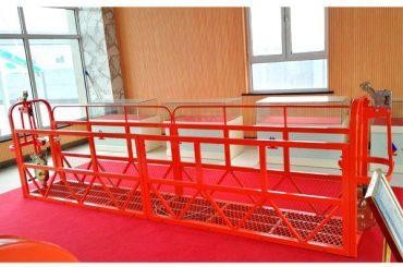 Plataformas de acceso suspendido de acero 7.5m 1.8kw 800kg. Mantenimiento de edificios.