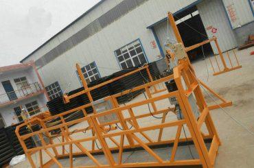 Plataforma de trabajo suspendida de acero para pintura ZLP630 confiable para construcción de edificios