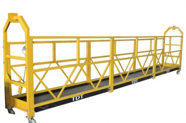 zlp1000 personalizada plataforma de acceso suspendida de mantenimiento con cable de acero 8.6mm