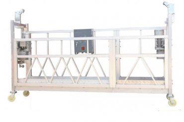 Plataforma de trabajo suspendida de aluminio galvanizada caliente pintada acero ZLP630 para la pintura constructiva de la fachada