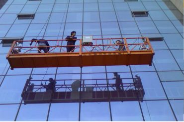 plataforma suspendida fuerte de la cuerda de la construcción con la cerradura de seguridad 30kn zlp1000 2.2kw 2.5m * 3