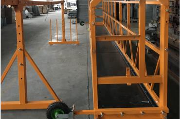 limpieza de ventanas plataforma de trabajo suspendida de seguridad zlp 630 con polipasto ltd6.3