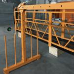 plataforma de cable de alambre monofásico suspendido 800 kg 1.8 kw, velocidad de elevación 8 -10 m / min