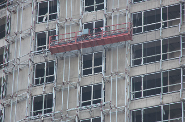 Serie ZLP plataforma de trabajo suspendida fácil plegado aleación de aluminio eléctrica