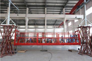 Plataforma de trabajo suspendida de aleación de aluminio de 10 metros con polipasto ltd8.0