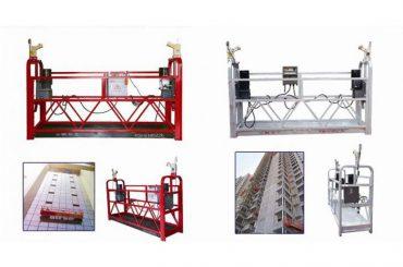 cuerda suspendida plataforma de acceso suspendido, zlp630 construcción máquina de góndola de elevación