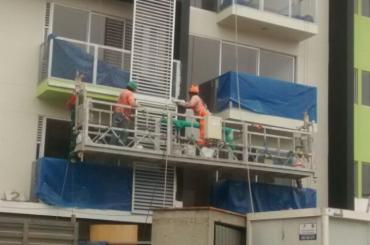 mantenimiento de la construcción de la plataforma de cuerda suspendida con polipasto ltd8.0 zlp800